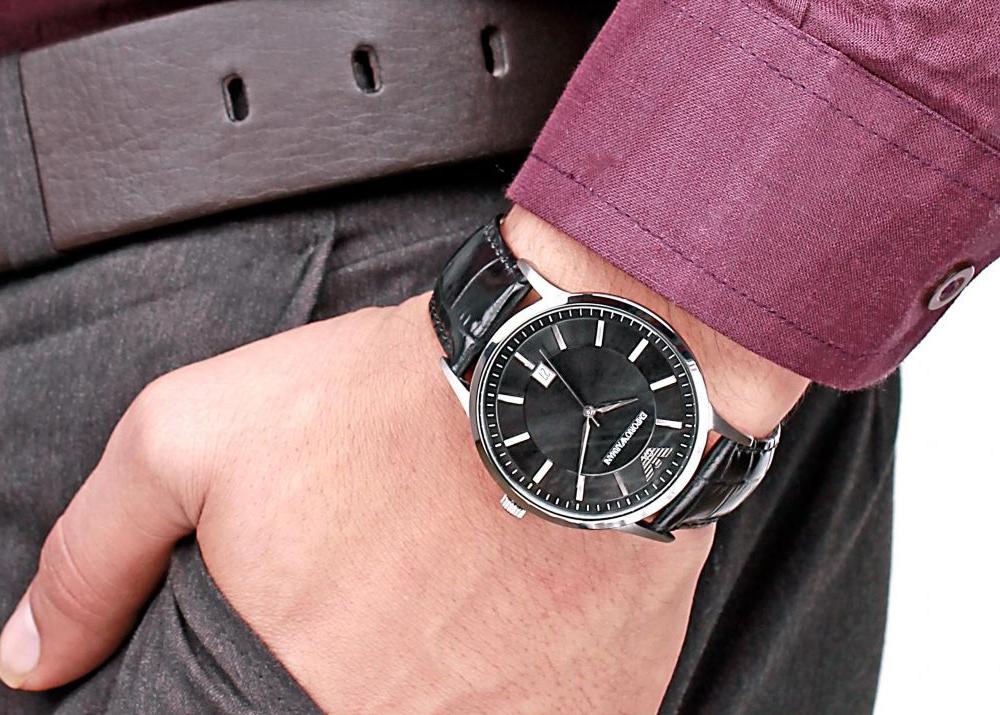 часы наручные серебряные мужские