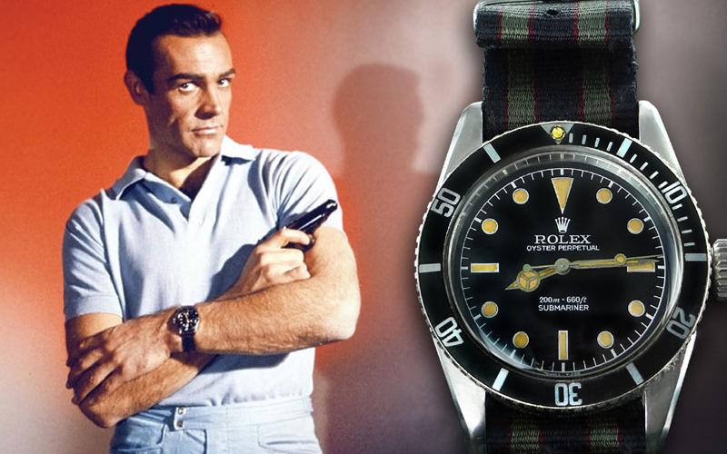 Часы Джеймса Бонда Rolex Submariner Ref. 6538