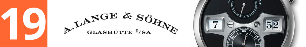 19 Место: A. Lange & Söhne