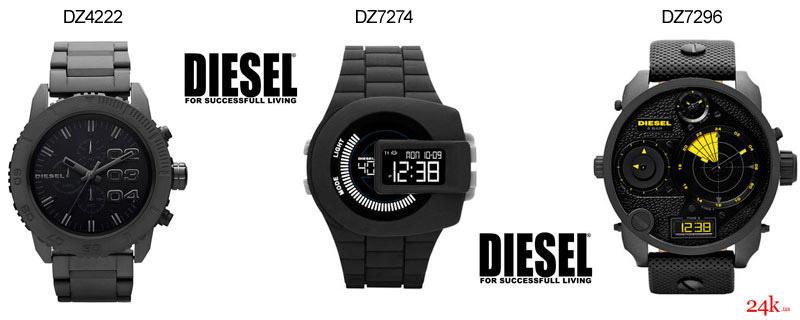 Черные часы Diesel