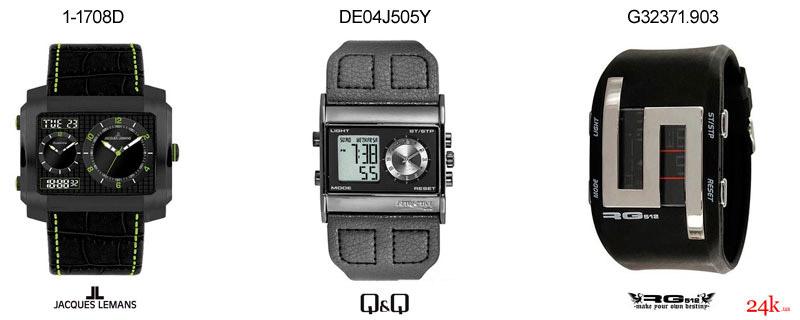 Черные часы от Jacques Lemans и Q&Q