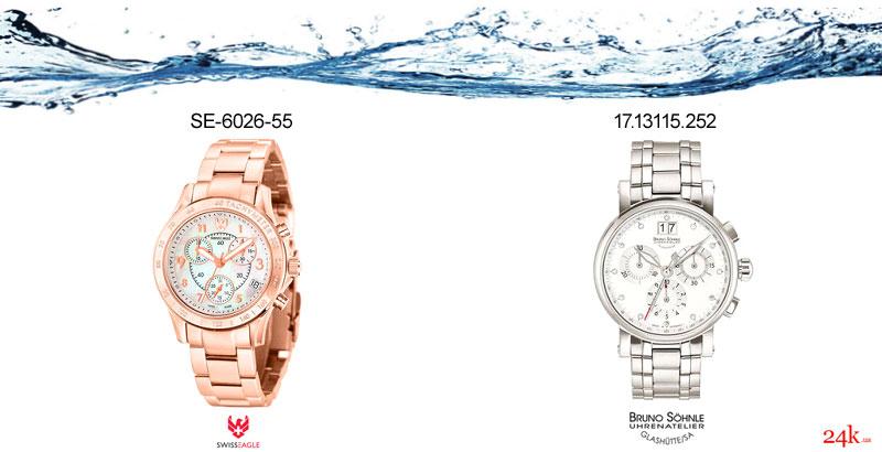 Модели водонепроницаемых часов