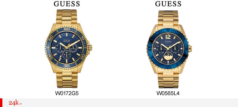 Золотистые часы Guess Indigo
