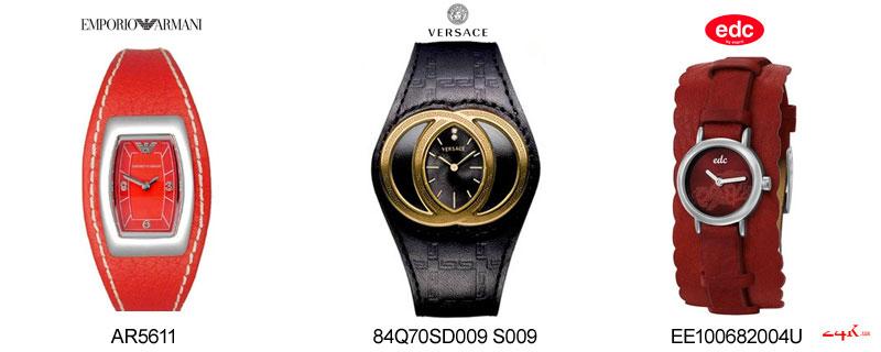 Широкие часы Armani
