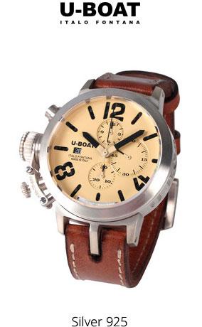 Часы U-Boat Classico Chrono Sterling Silver 925