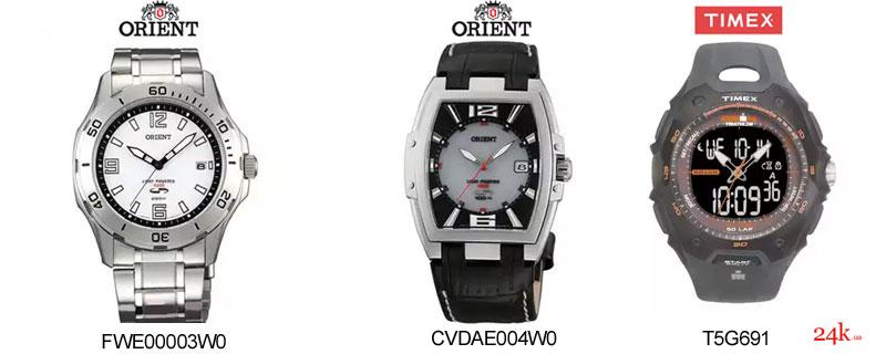Солнечные часы Orient и Tissot