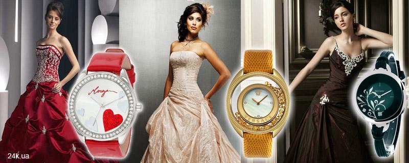 Яркие часы на свадьбу