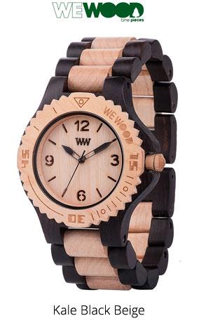 Часы WeWood Kale Black Beige