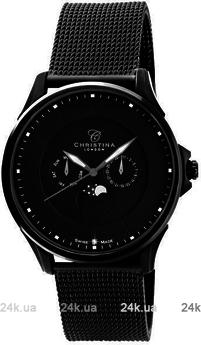 Мужские черные часы Christina 517BLBLBL-MESH
