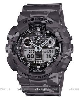 Часы GA-100CM-8AER