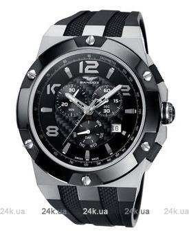 Мужские черные часы Sandoz 81289-05