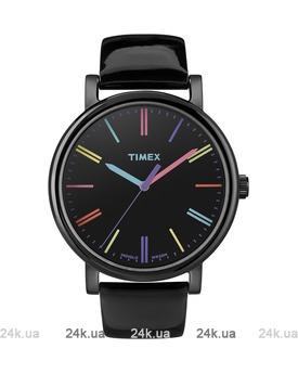 Женские черные часы Timex T2N790